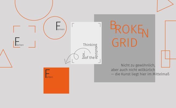 Broken Grid Grafik Designtrends 2020 - sunzinet AG