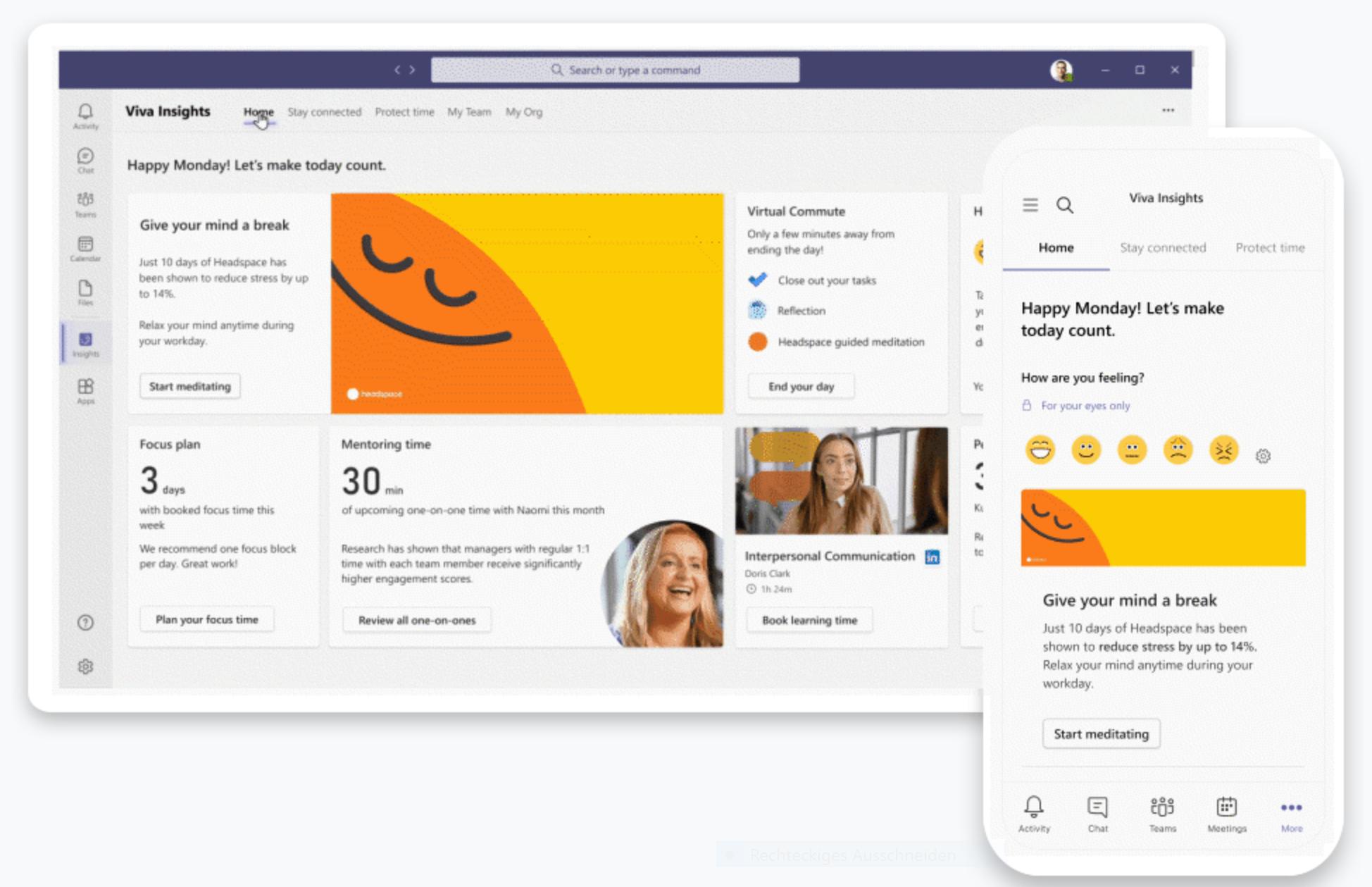 Screenshot Viva Insights